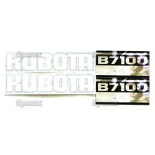 New Kubota B7100 Black/White/Silver Decal Set