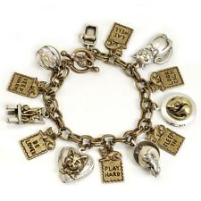 "NEW SWEET ROMANCE  ""THINGS I LEARNED FROM MY CAT"" CHARM BRACELET ~CUTE KITTY CAT"