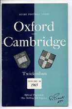(Gs902-100) Oxford vs Cambridge, Rugby Union Programme, Twickenham 1965 EX