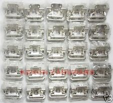 "Lot of 25 Pairs 50pcs Self Closing OVERLAY 1/2"" Cabinet Door Hinges-Satin Nickel"