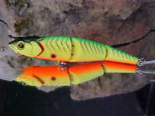 Strike Pro Jointed Flying Fish Floating Minnow Lure EG-079J#A16 Spotted LIME TGR