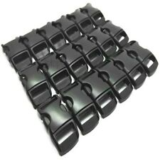 10 X 10MM 3/8 CONTOURED CURVED BUCKLES BLACK WEBBING PARACORD BRACELET
