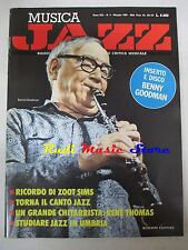 Rivista MUSICA JAZZ 5/1985 Benny Goodman Gianni Basso Willis Conover (*) NO cd