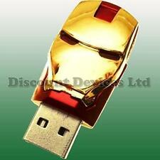 Iron Man Gold 8GB Flash/Pen Drive USB Memory Stick (not fake 32GB-64GB)