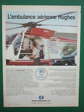 3/1984 PUB HUGHES HELICOPTERS HUGHES 500E AMBULANCE 1984 OLYMPICS FRENCH ADVERT