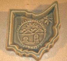 Ohio Sesquicentennial Beauty Queen Light Green Ceramic Ash Tray