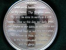 1-OZ.PURE.999 PURE SILVER THE LORDS PRAYER ENGRAVABLE NICE GIFTBOX COIN + GOLD