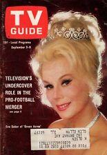 1966 TV Guide September 3 - Eva Gabor-Green Acres; Jack Jones;Ad - Green Hornet