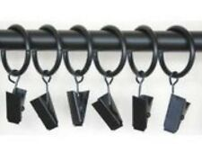 Black Metal Croc Ring Clip (x 6 clips)