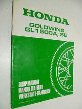 GENUINE HONDA GL1500A-(V) & GL1500SE-(V) GOLDWING -  WORKSHOP ADDENDUM  MANUAL