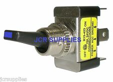 BLUE LED ILLUMINATED END ON-OFF TOGGLE SWITCH REF 036402