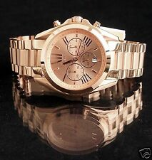 Original Michael Kors reloj fantastico mk5503 Bradshaw XL color: Rose oro nuevo