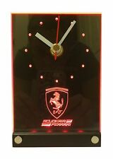Scuderia Ferrari Formula 1 Team LED 3D Effect Desk Table Clock F1 Sebastian Kimi