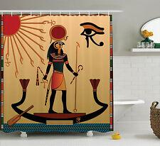 Ancient God Sun Ra Egyptian Faith Cultural Pagan Art Print Shower Curtain Set
