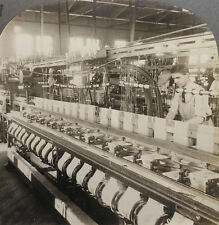 Keystone Stereoview of Weaving Taffeta Ribbons in NJ From Rare USA 100 Card Set
