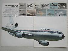 4/1970 PUB MCDONNELL DOUGLAS DC-10 AIRLINER DC-1 DC-2 DC-3 DC-7 DC-8 ORIGINAL AD