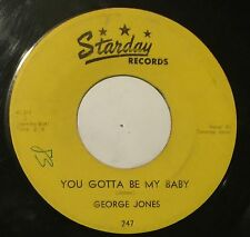 GEORGE JONES It's Okay/You Gotta Be My Baby 45 Starday rockabilly hillbilly hear