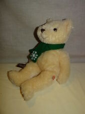 Original Exclusive Cheesecake Factory  BEAR WITH Green SCARF plush stuffed 14""