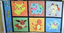 "1 Darling ""Pokemon"" Cotton Fabric Quilting/Wallhanging Sewing Panel"