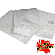 100 x J/6 WHITE PADDED BUBBLE BAGS ENVELOPES 290x445mm (EP9) - 24HR DEL