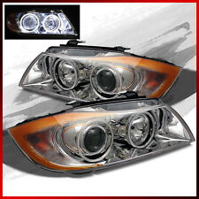 Fits 05-08 BMW E90 3-Series CCFL Halo Projector Headlights Lamps Upgrade