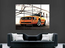 FORD MUSTANG CHARGER  SUPERCAR FAST SPORT ART WALL PICTURE POSTER  GIANT HUGE