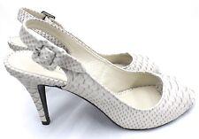 Talbots High Heel Slingback Shoes Pump Sandal 9N Malina Clay Snake Open Toe $129