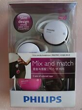 Philips SHS3800 Mix and Match Earclip Headphones / 3 colors cap set / Genuine