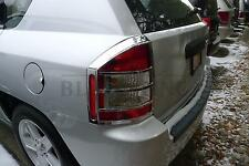 Jeep Compass chrome tail light bezels trim molding 2007-2010
