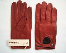 BNWT DIESEL RED SOFT LAMB LEATHER GLOVES GUMABEL GUANTO RRP EUR110
