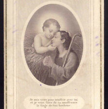 The Christmas of people who suffer. Old print HOLY CARD Letaille Boumard FRANCE