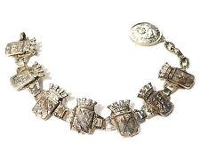 Bijou alliage argenté bracelet blasons de pays bangle