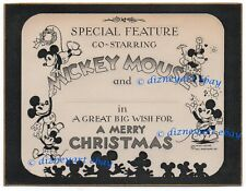 1st MICKEY MOUSE HALL BROS CHRISTMAS CARD! VERY RARE - 1931 - NM CONDITION