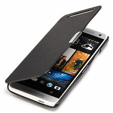 HTC One Mini M4 Slim Custodia Flip Borsa/custodia Cover Protezione nero A9