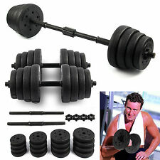 2 x DUMBBELL SET WEIGHT GYM WORKOUT BICEPS TRICEPS FREE WEIGHTS TRAINING 30KG