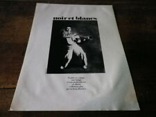 JOHNNY CARROLL - Mini poster Noir & blanc !!! VINTAGE 70'S !!!