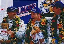 Signed Tom KRISTENSEN Le Mans 24hr Podium AUDI AUTOGRAPH 12x8 Photo AFTAL COA