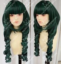 Free Shipping Dead Master DM Styled Cosplay Wig Black/Green Rock Shooter