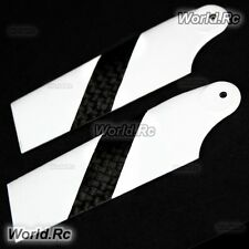 TAROT 3K Carbon Fiber Tail Rotor Blades White For Trex 450 RC Heli (RHS2330-02)