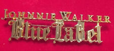 Rare Johnnie Walker Blue Label Whisky Brand Gold Tone Pin Brooch