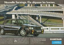 Publicité Advertising 1990  (double page)  CHRYSLER Nouvelle Saratoga