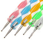 Nail Art Manicure Pedicure 5 Pcs 2 Way Intersperse Pen Set Paint kit Tools
