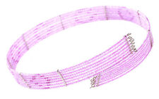 Iridescent 7 Row Candy Pink Beads Stranded Choker Necklace(Zx8/145)