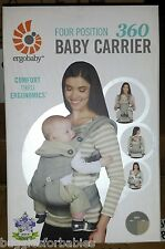 Ergo Baby Four Position 360 Carrier - Grey - BRAND NEW IN UNOPENED BOX!