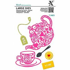 DOCRAFTS XCUT LARGE DIES FILIGREE TEA TIME - 7 DIE SET NEW 2016