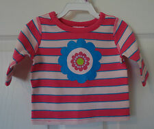 NWT Hanna Andersson Pink Stripe Organic Cotton Top Girl's Size 50, 0-3M