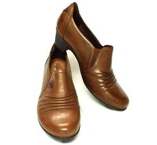 Cobb Hill Adele Leather Low Heel Shootie Shoe Boot Womens 9M/40.5 Almond Brown