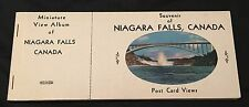 Vintage Niagara Falls Canada Miniature View Post Card Album Travel Souvenir 1949