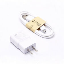 US Plug for Samsung Galaxy S3 S4 2A Wall AC DC Adapter+USB Charger Cable