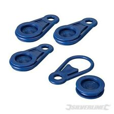 Tarpaulin Clips 4pk Silverline 231639 Tie Down Bunjee Bunge Boat Vehicle Stall